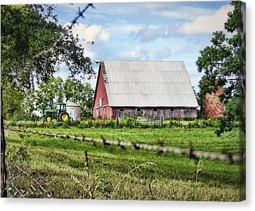 Summer Barn Canvas Print by Cricket Hackmann