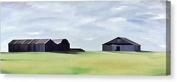 Summer Barns Canvas Print by Ana Bianchi