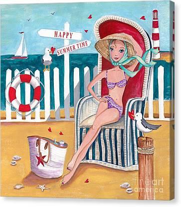 Summer Beach  Canvas Print