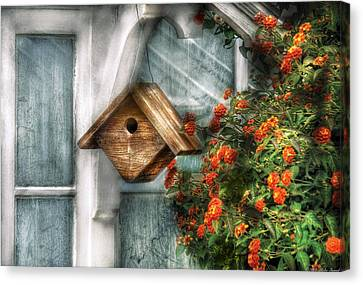 Summer - Birdhouse - The Birdhouse Canvas Print by Mike Savad