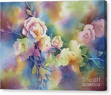 Summer Blooms Canvas Print by Deborah Ronglien