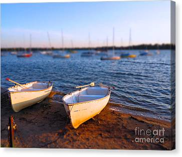 Summer Boats Canvas Print by Heidi Hermes