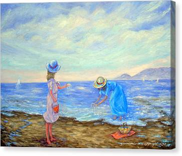 Summer By The Sea... Canvas Print by Glenna McRae