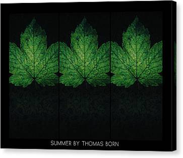 Canvas Print featuring the photograph Summer By Thomas Born by Thomas Born