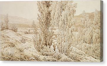 Summer Canvas Print by Caspar David Friedrich