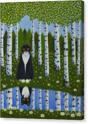 Harmonious Canvas Print - Summer Cat by Veikko Suikkanen