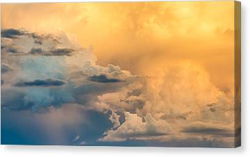 Summer Clouds - Abstract Cloud Photograph Canvas Print by Duane Miller