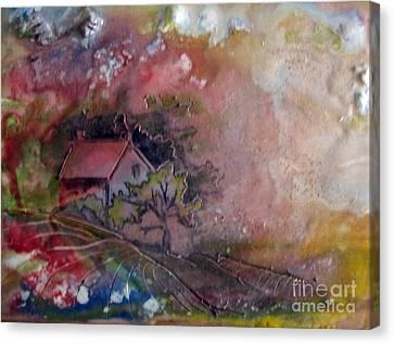 Summer Cottage Canvas Print by CJ  Rider
