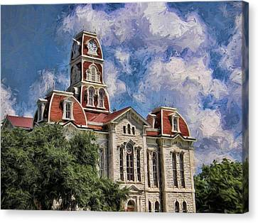 Summer Courthouse Canvas Print by Shannon Story