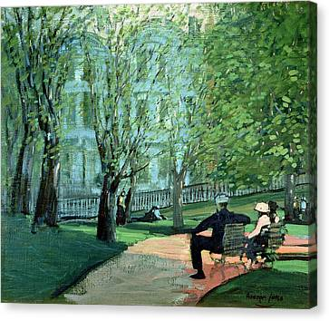 Summer Day Boston Public Garden Canvas Print by George Luks