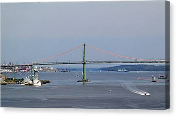 Summer Day On Halifax Harbour Canvas Print by George Cousins