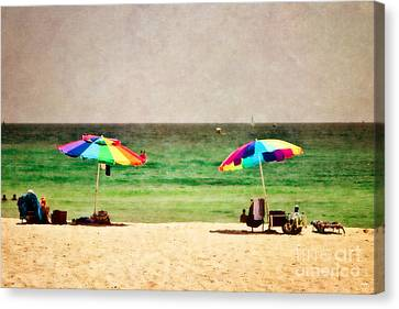 Summer Days At The Beach Canvas Print by Scott Pellegrin