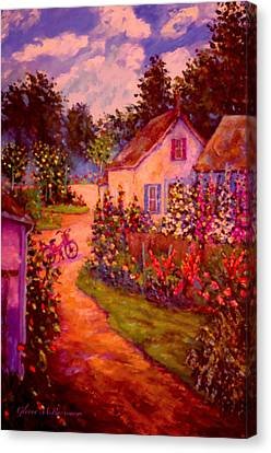 Summer Days At The Cottage Canvas Print by Glenna McRae