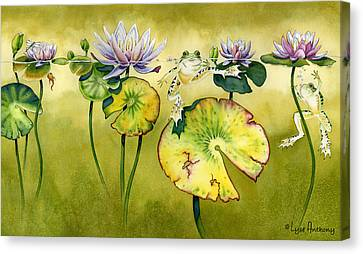 Frog Watercolor Canvas Print - Summer Days by Lyse Anthony