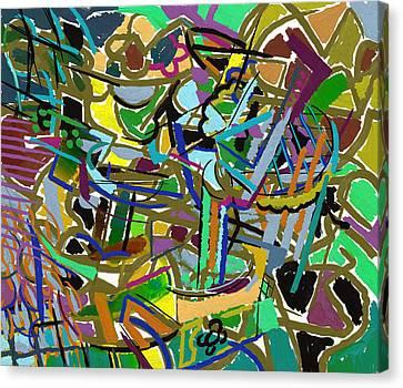 Canvas Print featuring the digital art Summer Divertimento In Green by Clyde Semler