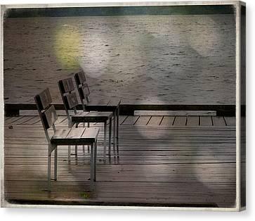 Summer Dock Waterfront Fine Art Photograph Canvas Print by Laura Carter
