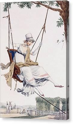 Summer Dress Canvas Print by Philibert Louis Debucourt