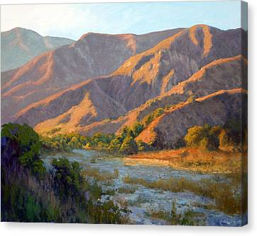 Summer Evening Eaton Canyon Canvas Print