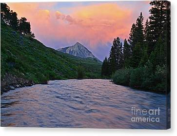 Summer Evening Reflections Canvas Print