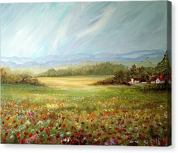 Summer Field At The Farm Canvas Print