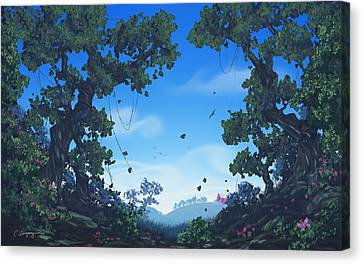 Summer Fields Canvas Print by Cassiopeia Art