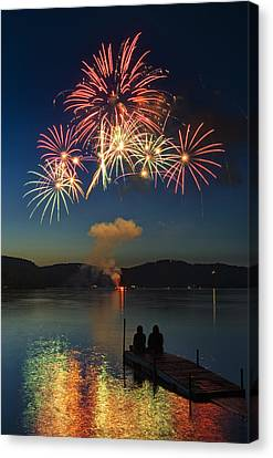 Summer Fireworks Canvas Print by Darylann Leonard Photography