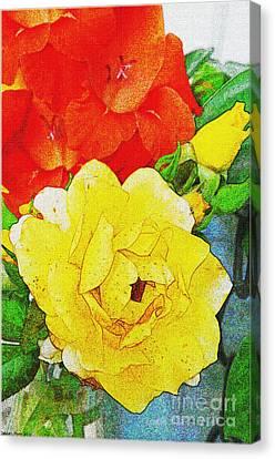 Summer Floral Photoart II Canvas Print