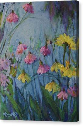 Summer Flower Garden Canvas Print