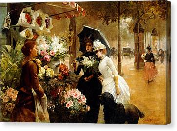 Summer Flowers Canvas Print by Louis de Schryver