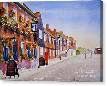 Summer Folkestone Harbour Uk Canvas Print by Beatrice Cloake