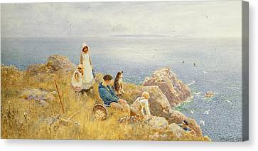 Summer Frolic Canvas Print by Thomas James Lloyd