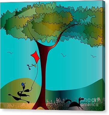 Summer Fun Canvas Print by Iris Gelbart