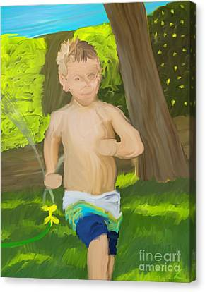 Summer Fun Canvas Print by Scott Laffin