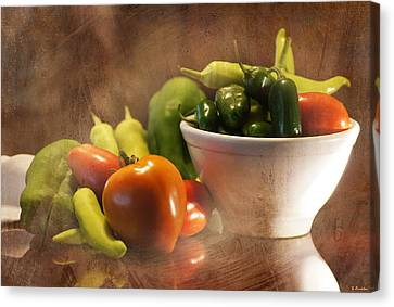 Summer Garden Picking Canvas Print by Susan Bordelon