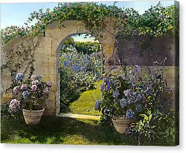 Summer Garden Canvas Print by Terry Reynoldson