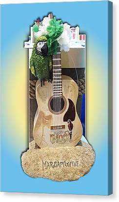 Rose Cottage Gallery Canvas Print - Summer Guitar by Barbara McDevitt