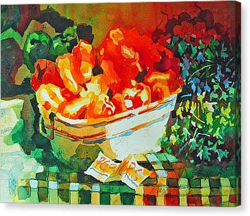 Canvas Print featuring the painting Summer Harvest by Roger Parent