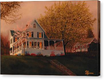Summer Home Canvas Print by Rick Fitzsimons