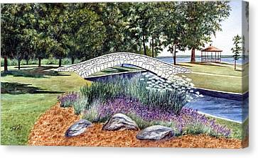 Summer In Doty Park Canvas Print