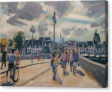 Summer In Maastricht Canvas Print by Nop Briex