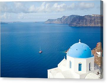 Greek Icon Canvas Print - Summer In Santorini - Greece by Matteo Colombo