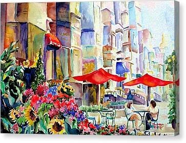 Summer In The City Canvas Print by Barbara Jung