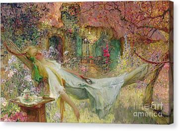 Summer In The Garden Canvas Print by Darien Henri-Gaston