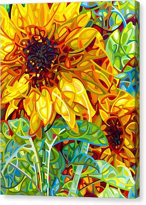 Flower Art Canvas Print - Summer In The Garden by Mandy Budan