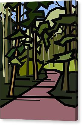 Summer In The Woods Canvas Print by Kenneth North