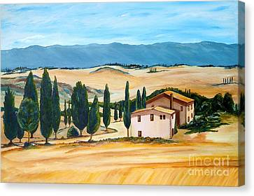 Summer In Tuscany Canvas Print by Christine Huwer