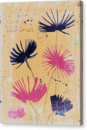 Textured Florals Canvas Print - Summer Joy - 55dbb by Variance Collections