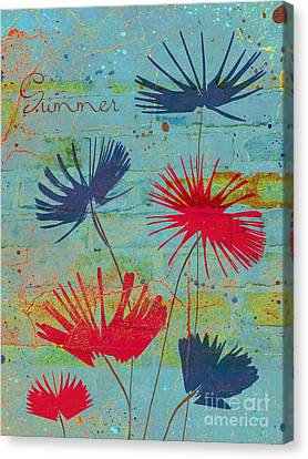 Textured Florals Canvas Print - Summer Joy - Jy44v2b by Variance Collections