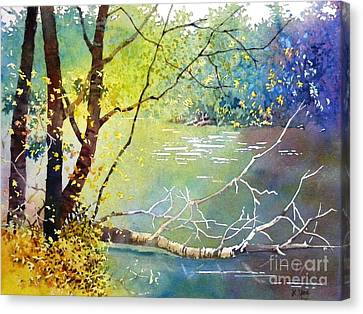 Summer Lakeside Canvas Print