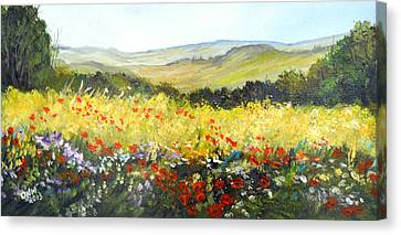 Summer Landscape Dream Canvas Print by Dorothy Maier